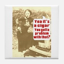 Bonnie Parker Cigar Tile Coaster