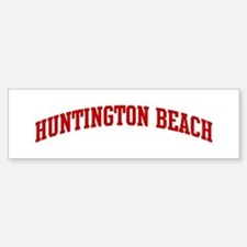 HUNTINGTON BEACH (red) Bumper Bumper Bumper Sticker