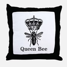 Queen Bee Throw Pillow