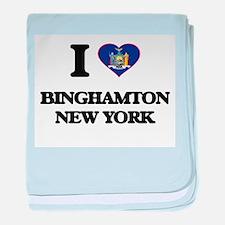 I love Binghamton New York baby blanket
