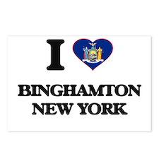 I love Binghamton New Yor Postcards (Package of 8)
