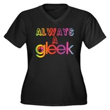 Always a Gle Women's Plus Size V-Neck Dark T-Shirt