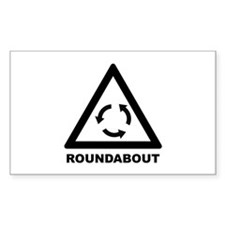 Roundabout Rectangle Decal