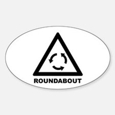Roundabout Oval Decal