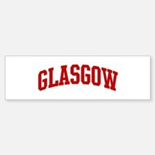 GLASGOW (red) Bumper Bumper Bumper Sticker