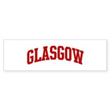 GLASGOW (red) Bumper Bumper Sticker
