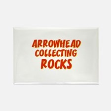 Arrowhead Collecting Rocks Rectangle Magnet (10 pa