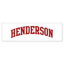 HENDERSON (red) Bumper Car Sticker