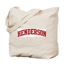 HENDERSON (red) Tote Bag