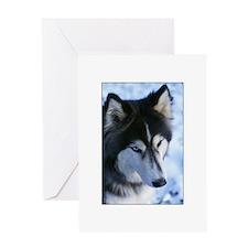 Blue Eyed Husky Greeting Card