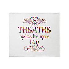 Theatre More Fun Throw Blanket