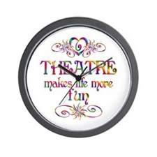 Theatre More Fun Wall Clock