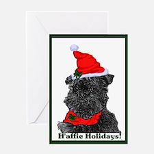 Affenpinscher Christmas Greeting Card