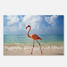 Flamingo On The Beach Postcards (Package of 8)