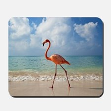 Flamingo On The Beach Mousepad