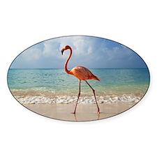 Flamingo On The Beach Decal