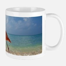 Flamingo On The Beach Mugs