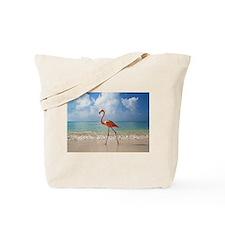 Flamingo On The Beach Tote Bag