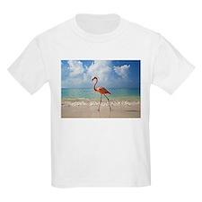 Flamingo On The Beach T-Shirt