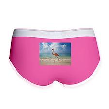 Flamingo On The Beach Women's Boy Brief