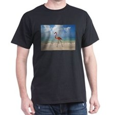 Flamingo On The Beach T-Shirt