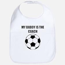 My Daddy Is The Coach Soccer Bib