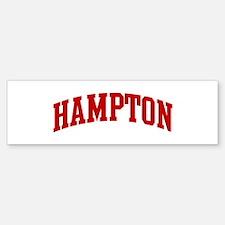 HAMPTON (red) Bumper Bumper Bumper Sticker