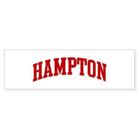 HAMPTON (red) Bumper Sticker