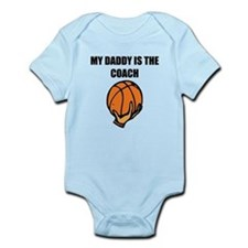 My Daddy Is The Coach Basketball Body Suit