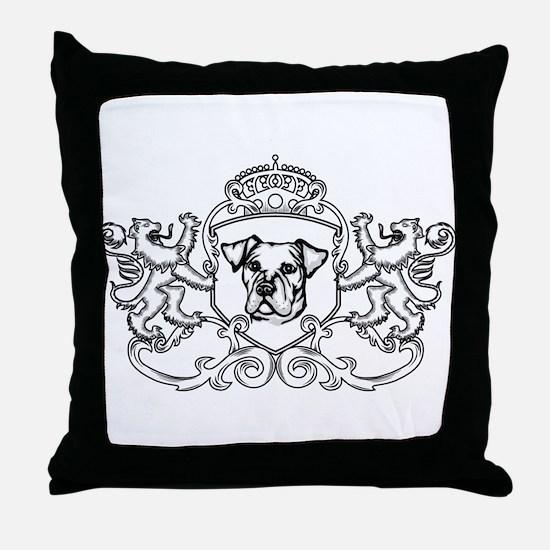 Catahoula Bulldog Throw Pillow