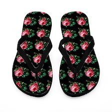 Pink Cabbage Rose Vintage Pattern Flip Flops