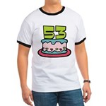53 Year Old Birthday Cake Ringer T