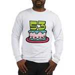 53 Year Old Birthday Cake Long Sleeve T-Shirt