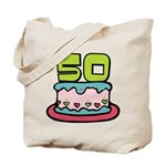 50 Year Old Birthday Cake Tote Bag