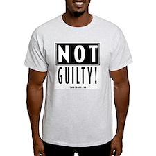 Not Guilty! Ash Grey T-Shirt