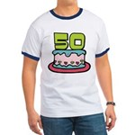 50 Year Old Birthday Cake Ringer T