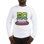 50 Year Old Birthday Cake Long Sleeve T-Shirt