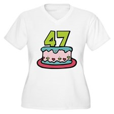 47 Year Old Birthday Cake Women's Plus Size V-Neck