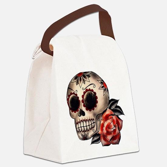 Sugar Skull 034 Canvas Lunch Bag