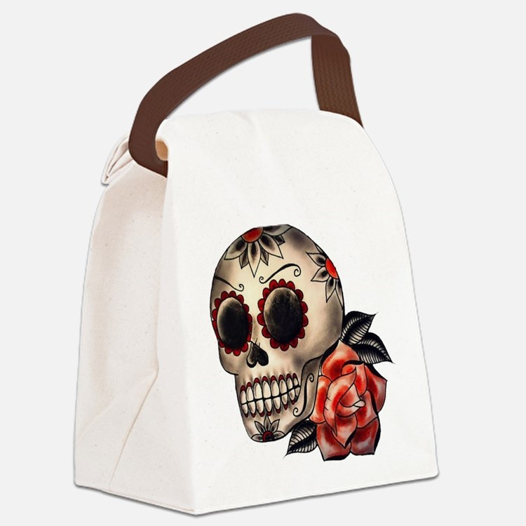 Sugar Skull 034 Canvas Lunch Bag
