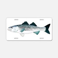 Striped Bass v2 Aluminum License Plate