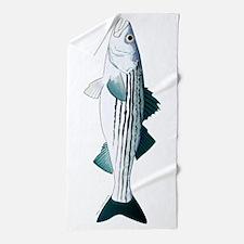 Striped Bass v2 Beach Towel