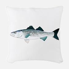Striped Bass v2 Woven Throw Pillow