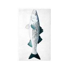 Striped Bass v2 Area Rug