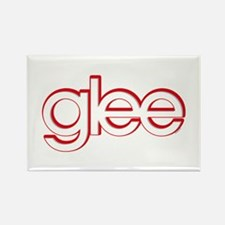 Glee Red & White Rectangle Magnet
