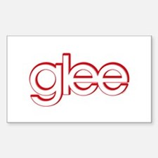 Glee Red & White Decal