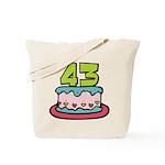 43 Year Old Birthday Cake Tote Bag