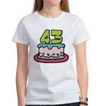 43 Year Old Birthday Cake Women's T-Shirt