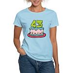 43 Year Old Birthday Cake Women's Light T-Shirt