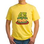 43 Year Old Birthday Cake Yellow T-Shirt